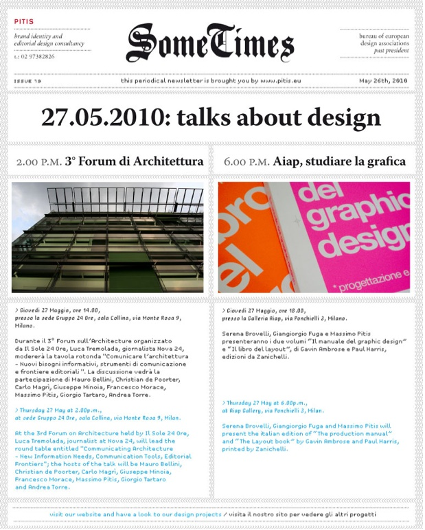 N°19/ talk design
