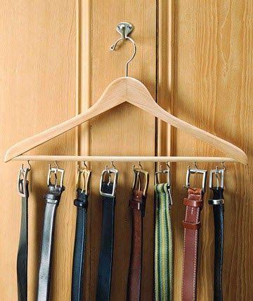 Ordenar los cinturones en el armario                                                                                                                                                                                 Más