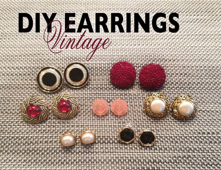 DIY Basic Stud Post Earrings