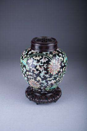 Antique Chinese Porcelain Famille Verte Jar