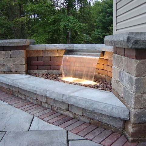 424 best hardscape ideas images on pinterest water for Pond waterfall spillway ideas