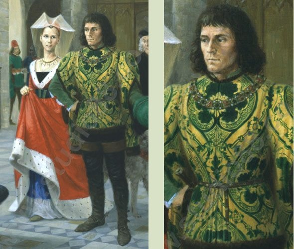 Richard III and his wife Anne Neville  This depiction of them seems very accurate and plausible to me.