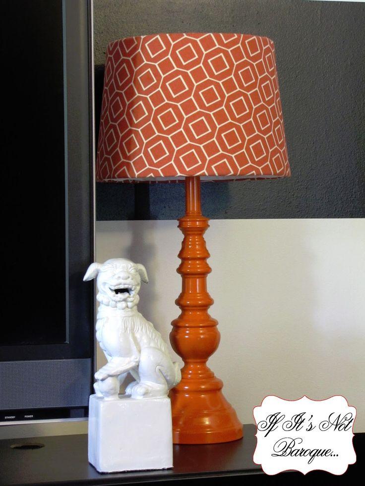If It's Not Baroque...: Flea Market Flip - Lamp Makeover...spraypainted brass lamps