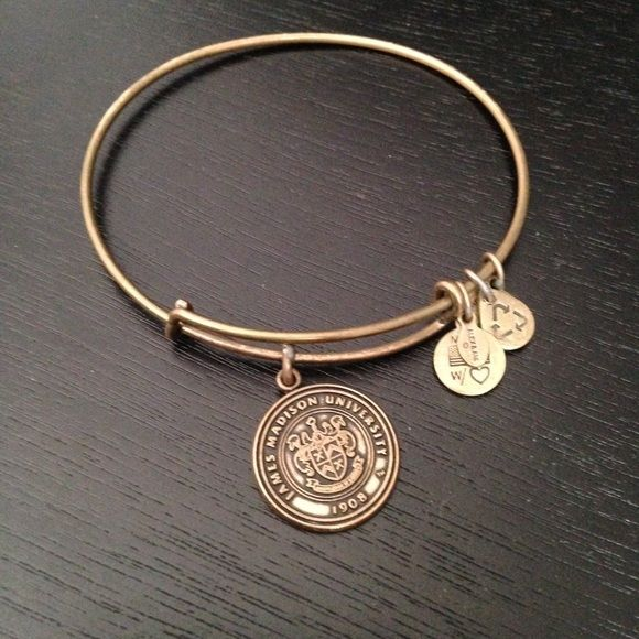 Alex and Ani Charm Bangle James Madison University Cute James Madison University Alex and Ani charm bangle. Has been worn and is slightly tarnished. Still has lots of life! Alex & Ani Jewelry Bracelets