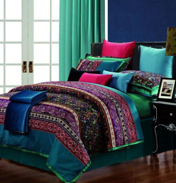 1000 id es propos de couvre lit violet sur pinterest for Drap housse coton egyptien