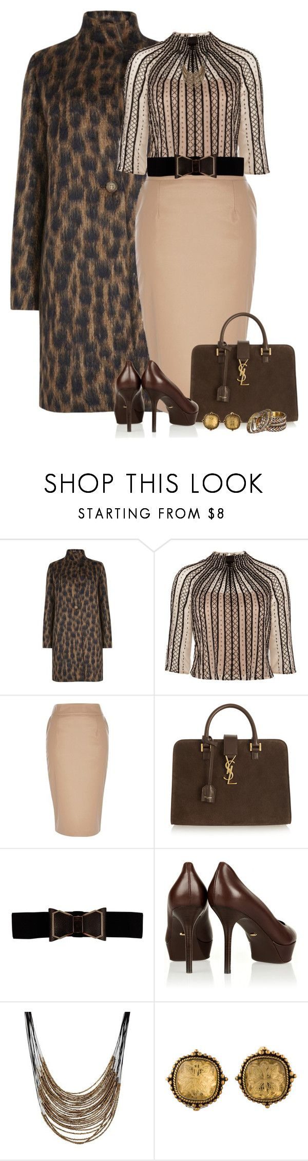 """""""Suede Tote"""" by kiffanyl ❤ liked on Polyvore featuring MaxMara, Temperley London, River Island, Yves Saint Laurent, Sergio Rossi, MOOD, Stephen Dweck and Gypsy SOULE"""