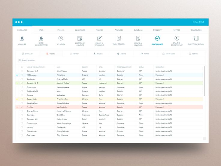Office CRM Design by Khester | Design & Creative 