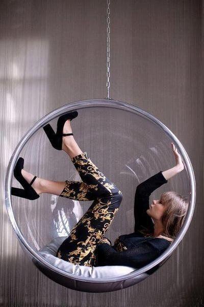Pretty Egg-cellent!  Hanging bubble chair replica - code D2009