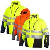 Projob Hi Vis Functional Softshell Work Jacket (Quilt Lined) Class 3/2 - 646420 , Hi Vis Jackets - Projob, Active-Workwear - 1
