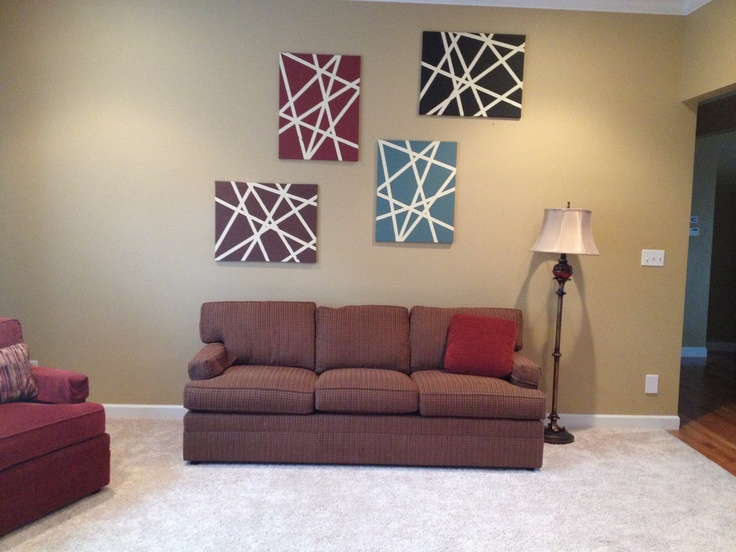 Living Room Art... And The Whole Thing Cost Less Than $35!