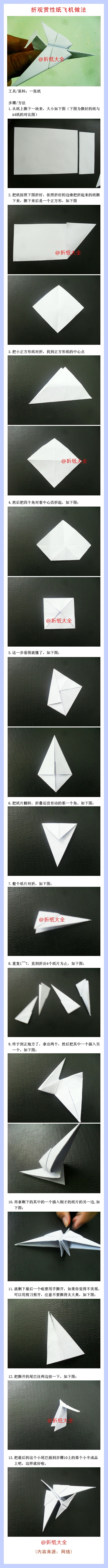 Origami Ornamental Airplane