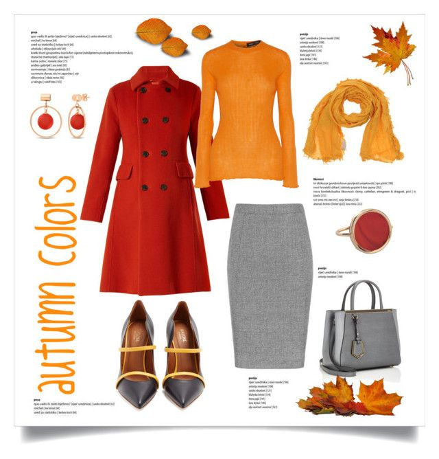 autumn colors by levai-magdolna on Polyvore featuring Proenza Schouler, Weekend Max Mara, Malone Souliers, Fendi, Ginette NY, BERRICLE and Momonì