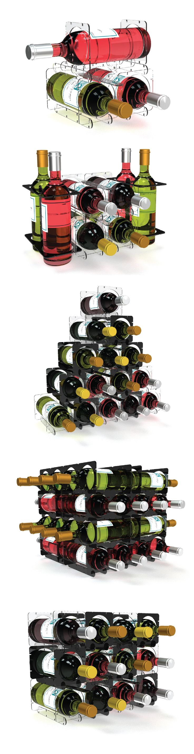 Bottle storage doesn't have to be boring. Design your bottle rack however you'd like with LINKOS!