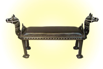 Double-sided Camel Bench   Leather Seat  MRP - Rs. 5495