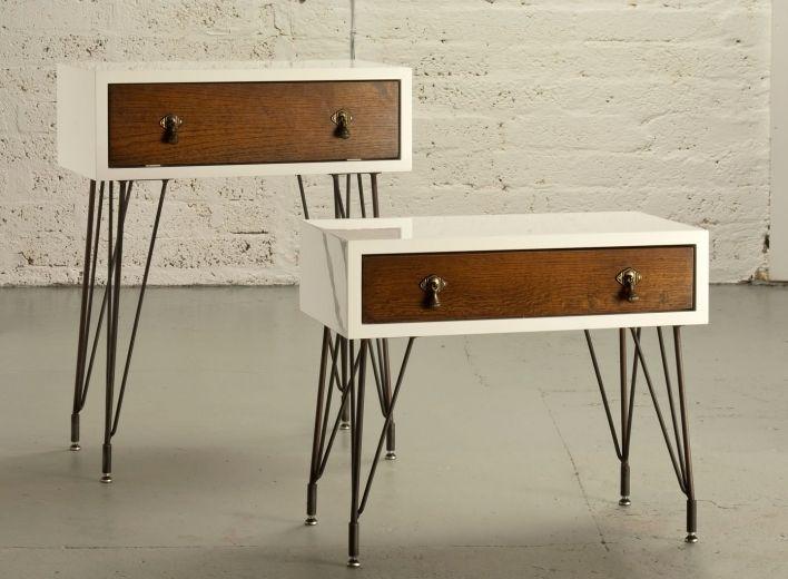 Refurbished 1930u0027s Oak Draws With PU Gloss Wrap On Sputnick Legs #upcycle  #wood