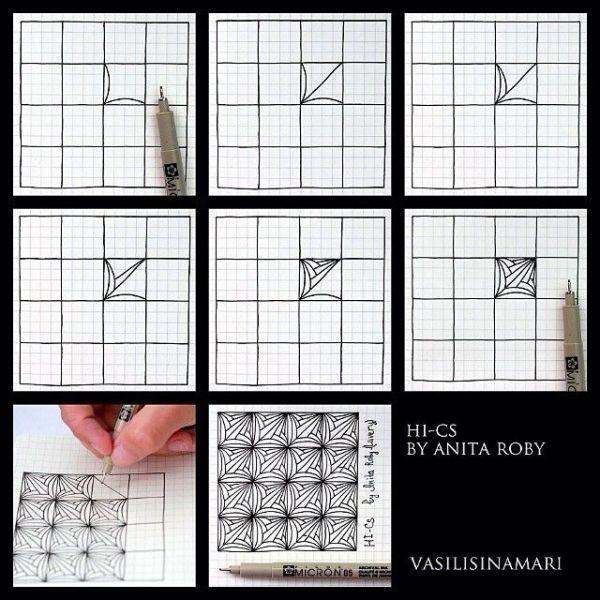 patrón zentangle tutorial de Txell