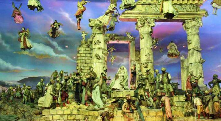 Museu de Arte Sacra de São Paulo - Cena do Presépio Napolitano, conjunto de peças do século XVIII; acervo MAS