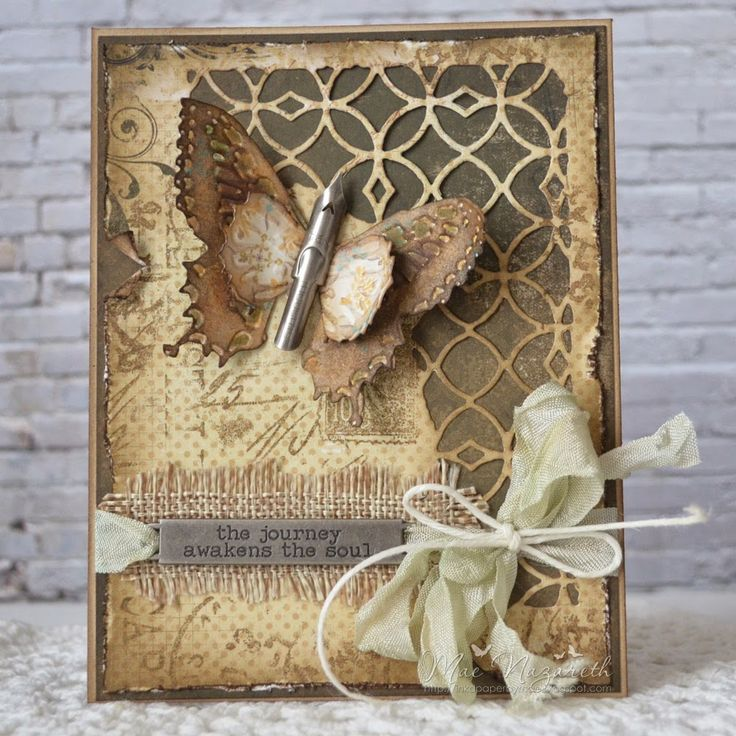 Hi Friends,     I've been playing with some Tim Holtz dies lately and this is what I came up with. I love the new Butterfly Duo with Tex...