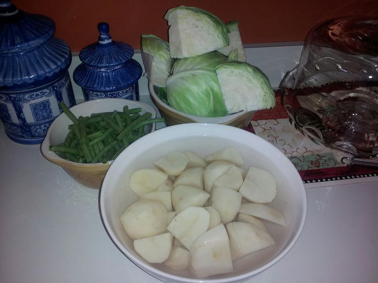 how to make boiled cabbage and ham
