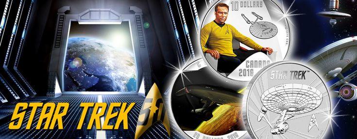 Neue Münzen für Trekkies – Silberdollars rund um Raumschiff Enterprise, Captain Kirk und Mr. Spock