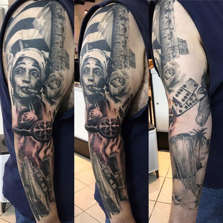 Cuban pride tattoo in progress tattoos for men