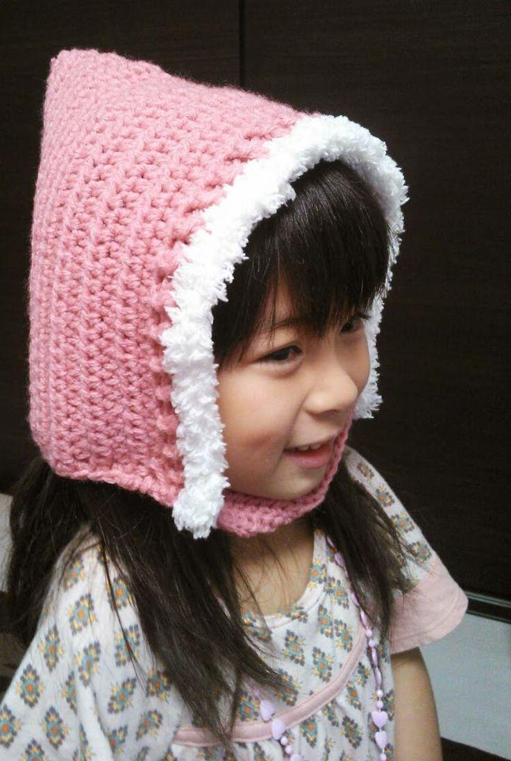 てっぺんのとんがりがキュートな帽子♡かぎ針編みで編むピクシーハットの編み方☆