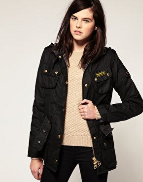 Barbour International Jacket: might just have to give in and buy this...