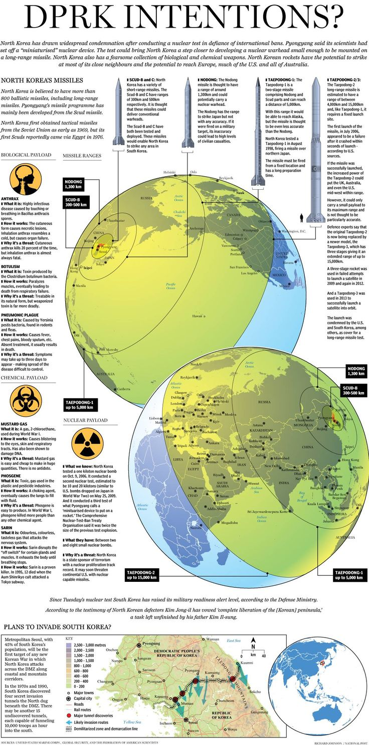 North Korea's Intentions (infograhic)  War And Conflict