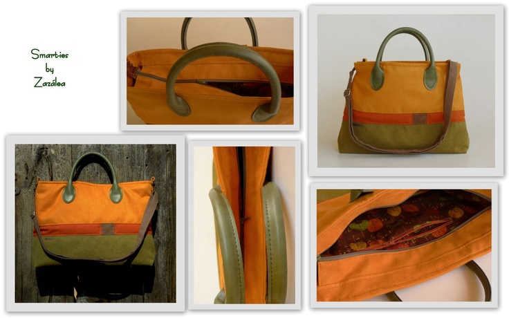 Smart-ies bag in orange and green. And love! :)