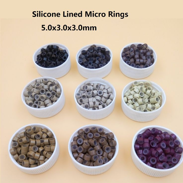 1000pcs 5mm  Micro Ring ✅ Beads Silicone Bead Link microring for 【title】  Feather Human Hair Extension tools   3# dark brown1000pcs 5mm  Micro Ring Beads Silicone Bead Link microring for  Feather Human Hair Extension tools   3# dark brown
