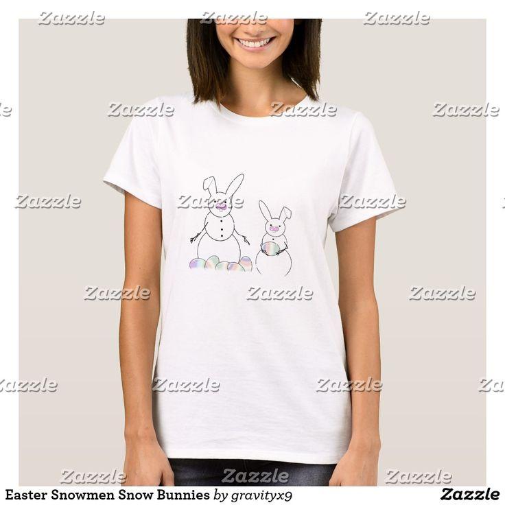 Easter Snowmen Snow Bunnies T-Shirt #s6gtp