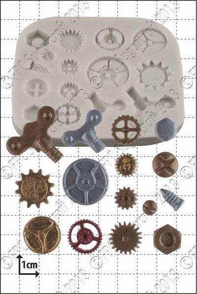 Steampunk Zahn & Getriebe Silikonform von FPC Sugarcraft auf DaWanda.com
