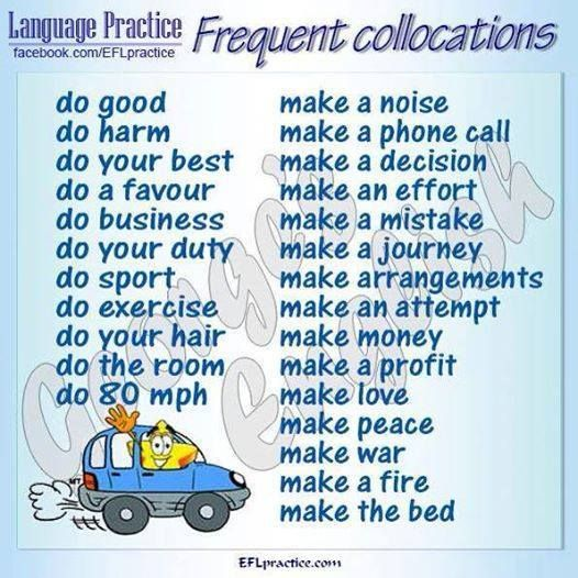 collocations with make and do