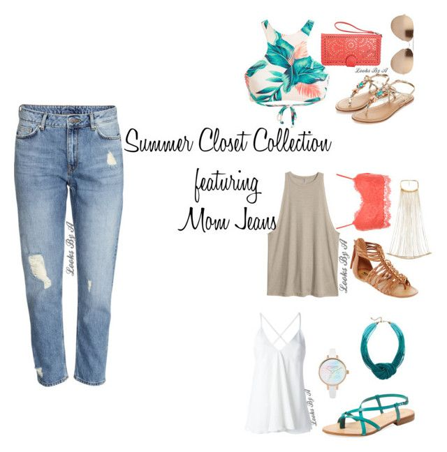 """""""Mom Jeans"""" by looksbya on Polyvore featuring Monsoon, Linda Farrow, Dondup, Avenue, H&M, Cocobelle, River Island, Arizona and WearAll"""