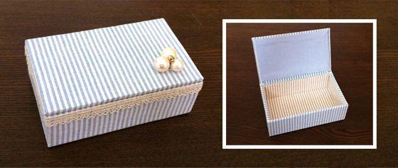 #DIY- fabric wraped box (cartonnage) tutorial