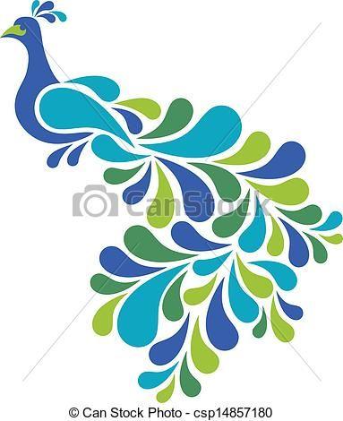 Vector - pauw,  Abstract - stock illustratie, royalty-vrije illustraties, stock clip art symbool, stock clipart pictogrammen, logo, line art, EPS beeld, beelden, grafiek, grafieken, tekening, tekeningen, vector afbeelding, artwork, EPS vector kunst