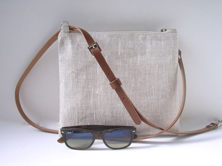 Our simple, linen crossbody purse with adjustable leather strap is finally here! Natural, textured linen is neutral in color, super lightweight and durable. Minimalist, casual style is perfect for eve