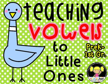My Teaching Vowels to Little Ones packet is FULL of fun and engaging activities & printables...with some of my favorite characters!