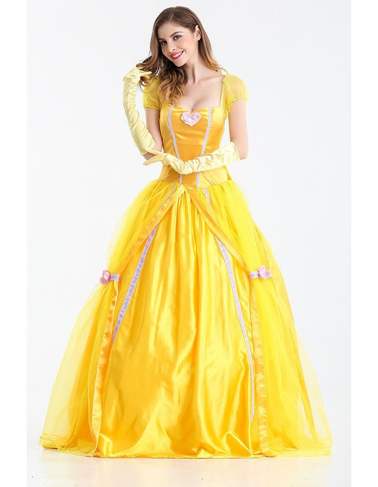 Product Code: MHC0230077 Package included: dress,gloves, and pannier Gender: Female Age Group: Adult Color:yellow Pattern: princess belle costume Material: Polyester Fiber 2016 the latest Halloween co