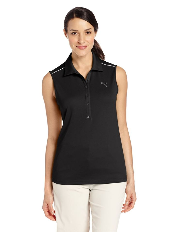 Utilizing DryCELL fabric with S-Cafe anti-odour treatment this womens NA tech sleeveless golf polo shirt by Puma will ensure you stay dry and comfortable all day long