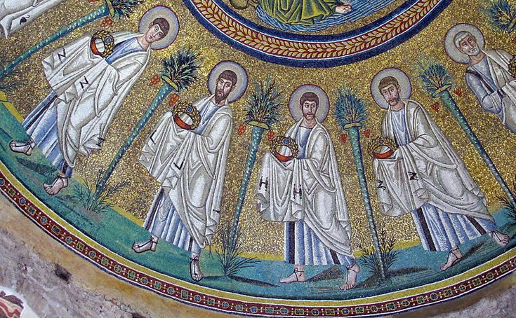 File:Battistero degli ariani, int, mosaico della cupola 06 apostoli.jpg