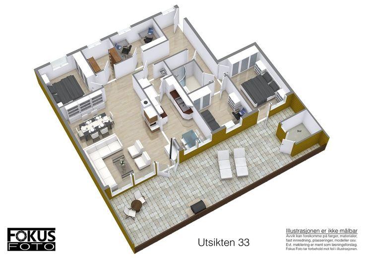 FINN – Utsikten 33- Flott, innholdsrik leilighet med 4 soverom og herlig terrasse.