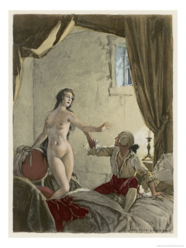 Giovanni Giacomo Casanova Italian Adventurer with His Belle Religieuse Giclee Print by Auguste Leroux at Art.com