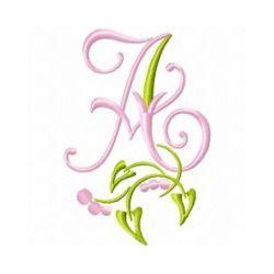Free Embroidery Design Monogram 71-A | Gosia Design