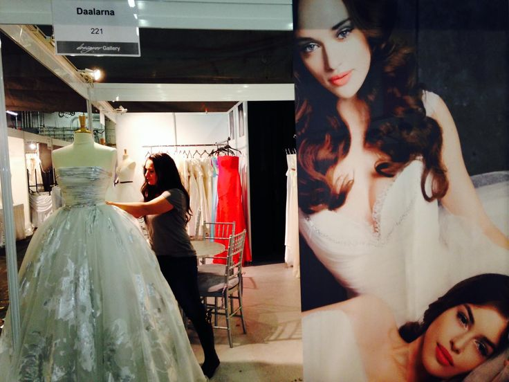 Our booth is ready to show our dresses to the international public.