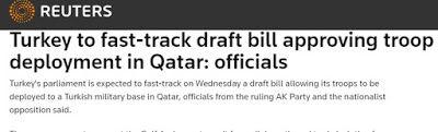 Reuters: Η Τουρκία έτοιμη να στείλει στρατό στο Κατάρ