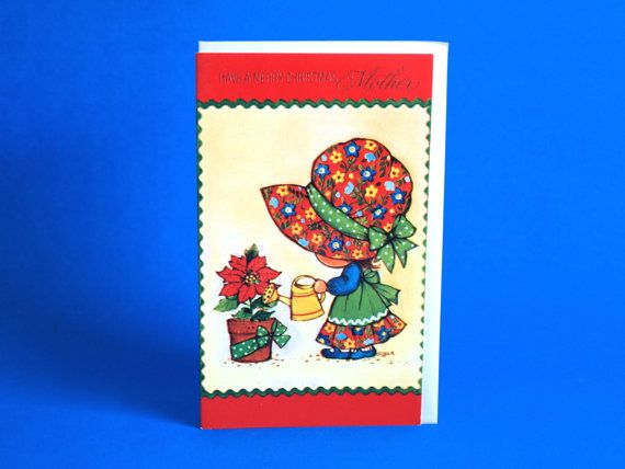 Vintage Merry Christmas Mother Patchwork Girl Card  by FunkyKoala