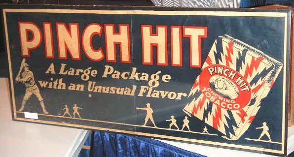 Pinch Hit Chewing Tobacco Sign Petroliana Gas And Oil