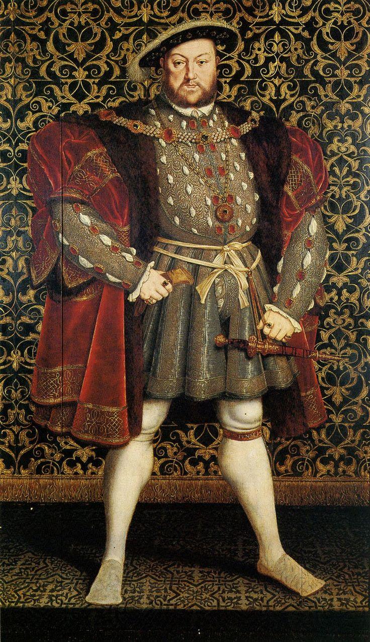 Retrato del Rey Enrique VIII de Inglaterra e Irlanda (1491-1547), realizado por Hans Eworth.