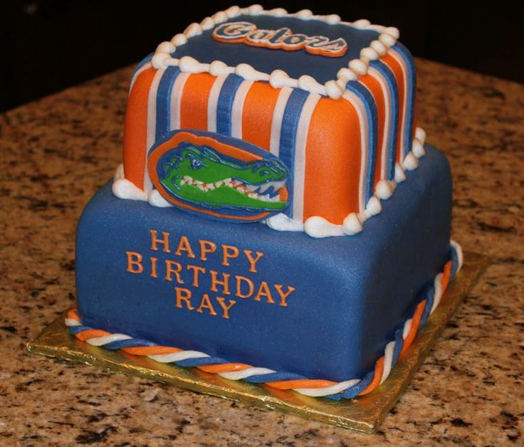 Image detail for -Florida Gators Cake two tiered stacked cake